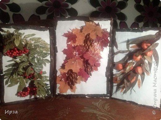 Триптих Осений , сделан полностью из природного материала