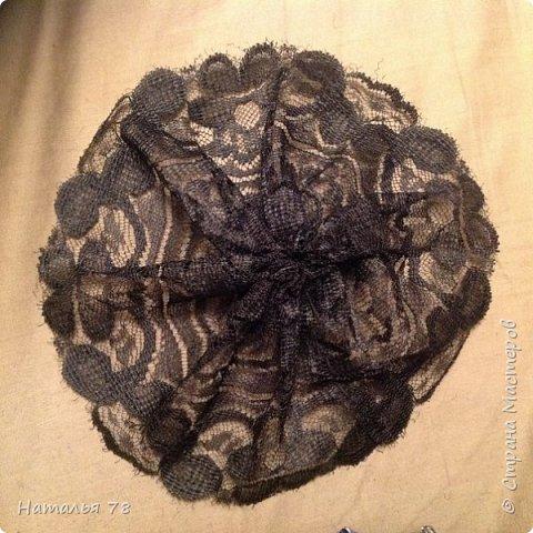 Вот такая брошь у меня получилась, делала ее для пончо, цвета драпа, из которого выполнены лепестки. фото 10