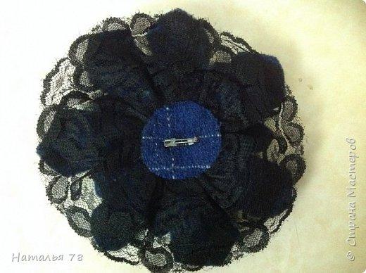 Вот такая брошь у меня получилась, делала ее для пончо, цвета драпа, из которого выполнены лепестки. фото 14