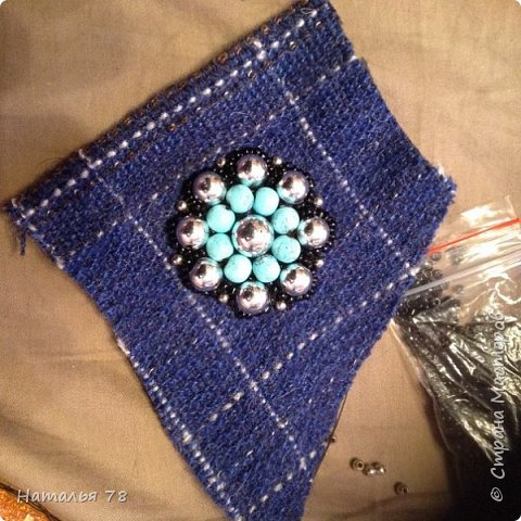 Вот такая брошь у меня получилась, делала ее для пончо, цвета драпа, из которого выполнены лепестки. фото 3
