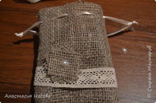 Хочу поделиться с Вами мастер-классом по созданию простых, но милых мешочков для изделий ручной работы. Я их использую для упаковки своих сутажных украшений. фото 9