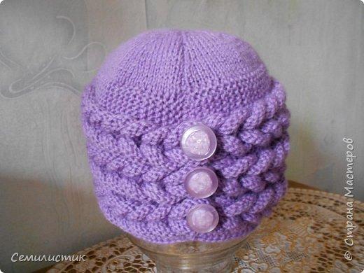 Доброе время суток, Страна!!!  Однажды увидела шапочку с интересным узором http://stranamasterov.ru/node/683572?c=favorite_b   Захотелось связать...Вот что получилось... фото 2