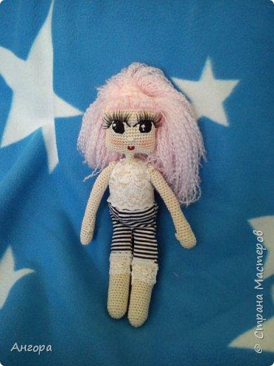 Привет, Страна! Затянуло меня изготовление куколок. Вот такая малышка получилась. Назвала Маргошей. Скромница-умница, с длинными ресницами фото 2