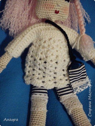 Привет, Страна! Затянуло меня изготовление куколок. Вот такая малышка получилась. Назвала Маргошей. Скромница-умница, с длинными ресницами фото 4
