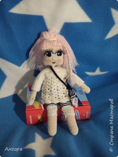 Привет, Страна! Затянуло меня изготовление куколок. Вот такая малышка получилась. Назвала Маргошей. Скромница-умница, с длинными ресницами фото 1