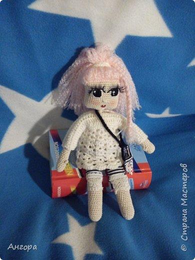 Привет, Страна! Затянуло меня изготовление куколок. Вот такая малышка получилась. Назвала Маргошей. Скромница-умница, с длинными ресницами фото 5