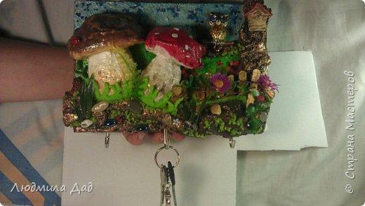 Давно смотрела на чудесную работу Елены Франскевич, ее ключницу, а тут повод хороший.Вот такая лесная полянка получилась. фото 4