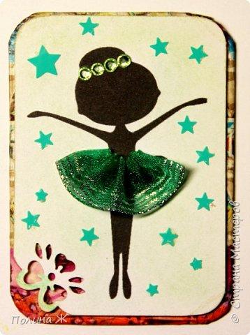 """Вот и готова моя новая серия """"Балеринки"""". Идея не нова, но мне очень понравилась, решила ее воплотить в серии карточек АТС. Ох, и промучилась я с маленькими звездочками, которые никак не хотели приклеиваться.  фото 2"""