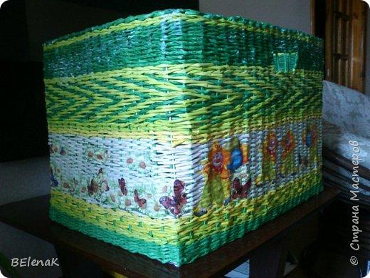 Здравствуйте, хочу показать корзинку, которую захотелось сделать, когда начало светить весеннее солнышко. Корзинка для фруктов на подарок. фото 4