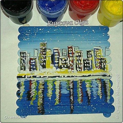 Подставочки под чашку из палочек от мореженого фото 19