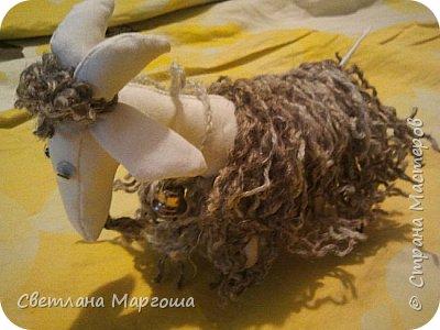 Эту овечку вязала крючком. Получилась она яркой, симпатичной и приятной на ощупь. Теперь живет у новой хозяйки)) фото 5