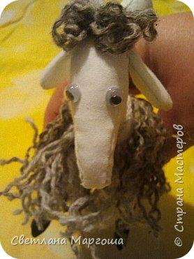 Эту овечку вязала крючком. Получилась она яркой, симпатичной и приятной на ощупь. Теперь живет у новой хозяйки)) фото 6