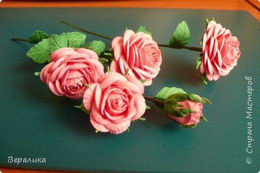 """Как говорится: """"Дело было вечером, делать было нечего...""""  Буквально позавчера просто накрутила эти розы, даже не зная для чего.. . фото 1"""