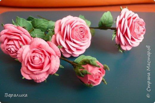 """Как говорится: """"Дело было вечером, делать было нечего...""""  Буквально позавчера просто накрутила эти розы, даже не зная для чего.. . фото 2"""