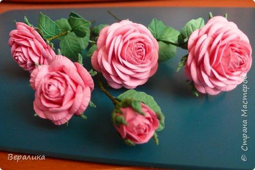 """Как говорится: """"Дело было вечером, делать было нечего...""""  Буквально позавчера просто накрутила эти розы, даже не зная для чего.. . фото 3"""