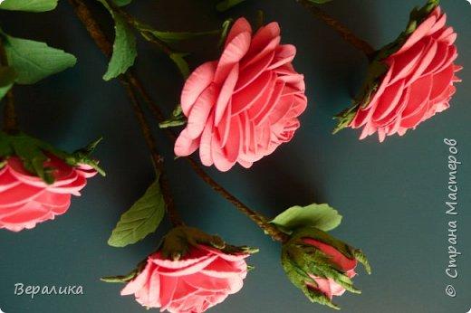 """Как говорится: """"Дело было вечером, делать было нечего...""""  Буквально позавчера просто накрутила эти розы, даже не зная для чего.. . фото 5"""