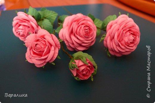 """Как говорится: """"Дело было вечером, делать было нечего...""""  Буквально позавчера просто накрутила эти розы, даже не зная для чего.. . фото 6"""