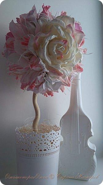 Крона дерева-цветы из фоамирана фото 1