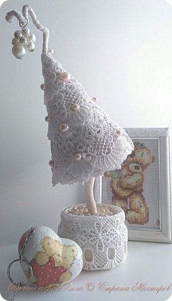 Крона дерева-цветы из фоамирана фото 2