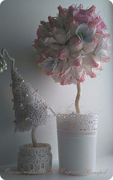 Крона дерева-цветы из фоамирана фото 3