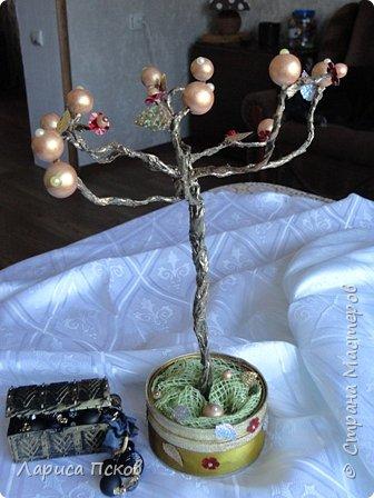 Доброго времени суток , дорогие соседи! К 8 Марта приготовила в подарок невестке подставку- дерево для бижутерии. фото 3