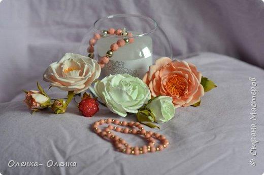 Добрый вечер!  Я очень люблю цветы, они прекрасны.Каждый цветок он неповторим:хрупкий,нежный, величественный.Некрасивых цветов нет.Цветы так быстро увядают,но многие мастера создают их из разных материалов,и я учусь у многих мастеров . Одним из материалов для создания цветов есть фоамиран,и это мои первые работы с этим замечательным материалом . фото 1
