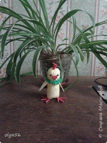 """Доброе время суток ,жители """"Страны Мастеров"""".Спасибо ,что делитесь своими работами и  идеями. Мне  очень понравился МК  Анешки и я решила   сделать и себе  таких  цыплят   http://stranamasterov.ru/node/1005896#photo2  Вроде все очень просто и материал доступный ,но каждый вносит что то свое. Вот  мои цыплята стоят на своих ножках в шкафу фото 14"""
