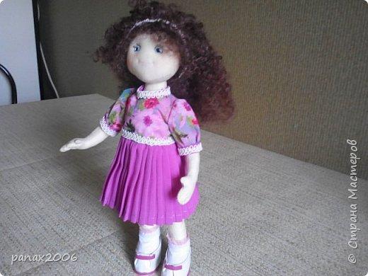 Знакомьтесь, это Ксюшка. Весёлая девочка из ткани. Игровая. фото 2