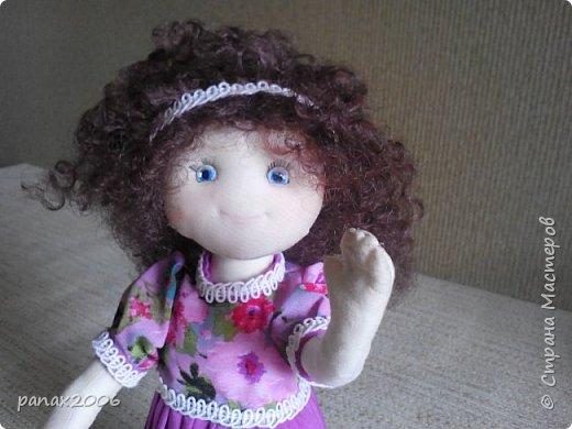 Знакомьтесь, это Ксюшка. Весёлая девочка из ткани. Игровая. фото 1