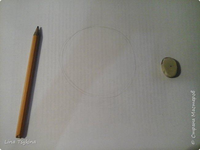 Всем привет! Сегодня я хочу вам рассказать как нарисовать сферу. Для этого нам понадобится : простой карандаш , ластик , и лист бумаги. Сначала нарисуем вот такой круг. фото 1