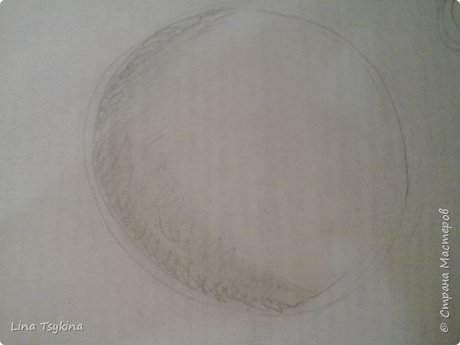 Всем привет! Сегодня я хочу вам рассказать как нарисовать сферу. Для этого нам понадобится : простой карандаш , ластик , и лист бумаги. Сначала нарисуем вот такой круг. фото 3