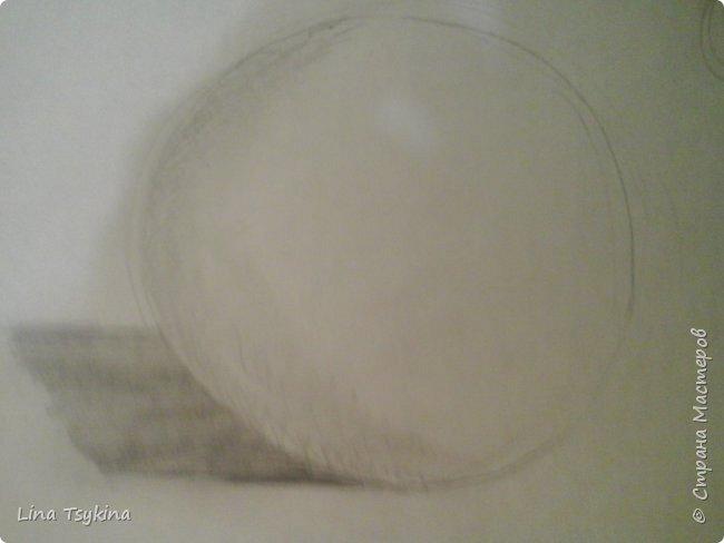 Всем привет! Сегодня я хочу вам рассказать как нарисовать сферу. Для этого нам понадобится : простой карандаш , ластик , и лист бумаги. Сначала нарисуем вот такой круг. фото 5