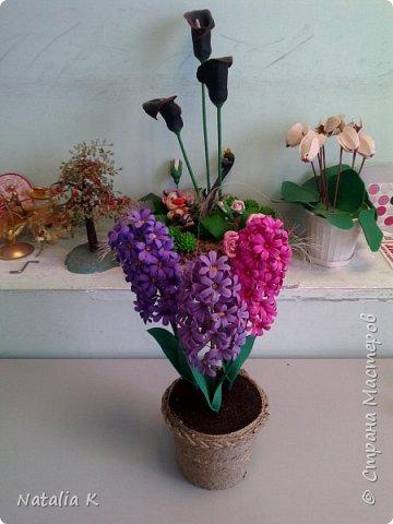 Это моя первая работа с фоамираном - розы в корзине)))) фото 4