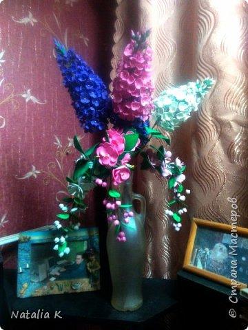 Это моя первая работа с фоамираном - розы в корзине)))) фото 2