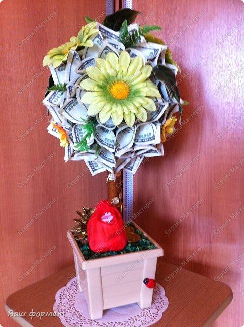 Денежный кран из сувенирных купюр. фото 4