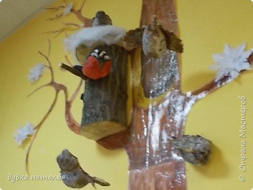 Вот такая полярная совушка у меня получилась из ваты и перьев. фото 8