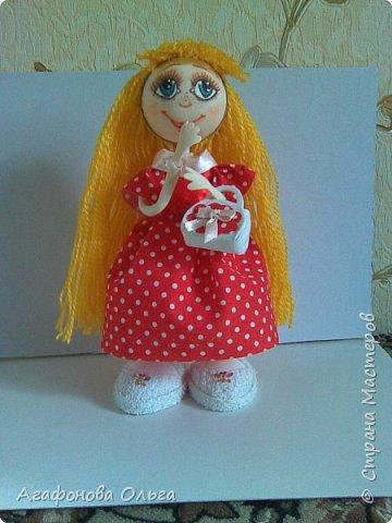 Моя вторая куколка из фоамирана. Платье из ткани, ручки и ножки гнутся. фото 1