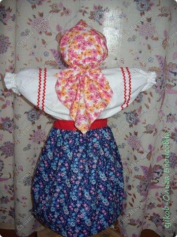 """Это наша кукла """"Масленица"""", которую мы сделали всей семьей к городскому конкурсу! (А фото оформили в открытку :)) фото 6"""