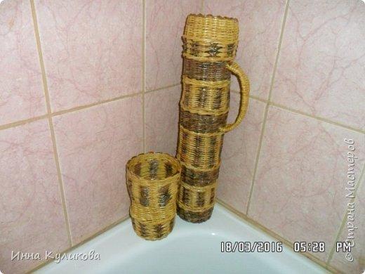 Плетение из бумажной лозы.Начало фото 10