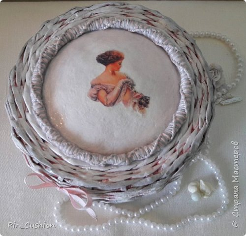 Плетёная шкатулка фото 1