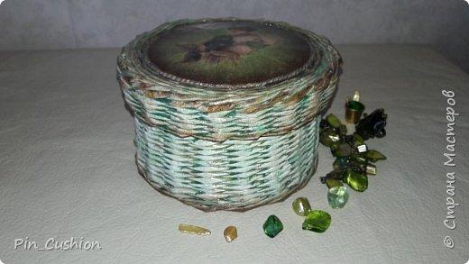 Плетёная шкатулка фото 2
