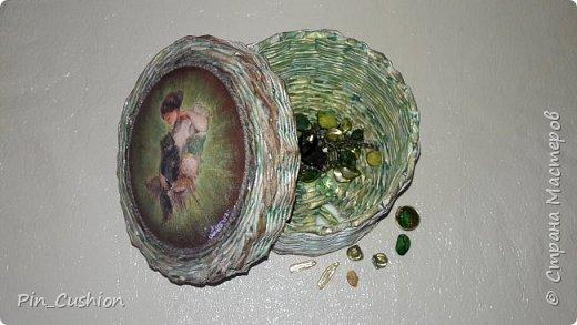 Плетёная шкатулка фото 3