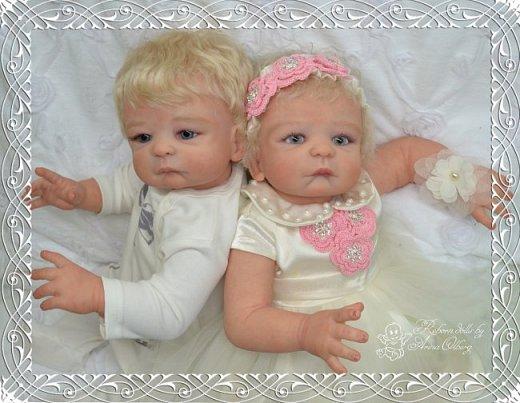 """Здравствуйте девочки-мастерицы! В моей мастерской """"родились"""" двойняшки- братик и сестричка Матвей и Миласлава.  Хочу вам их показать. Малыши ростом 56см, весом 3200гр. фото 11"""
