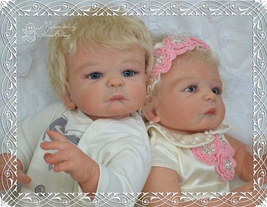 """Здравствуйте девочки-мастерицы! В моей мастерской """"родились"""" двойняшки- братик и сестричка Матвей и Миласлава.  Хочу вам их показать. Малыши ростом 56см, весом 3200гр. фото 7"""