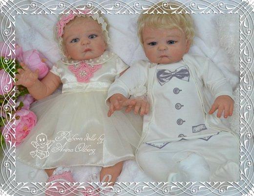 """Здравствуйте девочки-мастерицы! В моей мастерской """"родились"""" двойняшки- братик и сестричка Матвей и Миласлава.  Хочу вам их показать. Малыши ростом 56см, весом 3200гр. фото 8"""