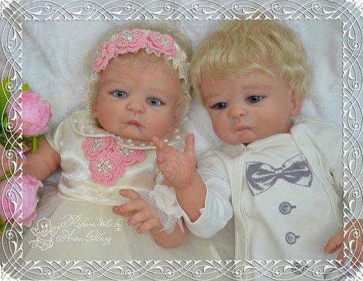 """Здравствуйте девочки-мастерицы! В моей мастерской """"родились"""" двойняшки- братик и сестричка Матвей и Миласлава.  Хочу вам их показать. Малыши ростом 56см, весом 3200гр. фото 9"""