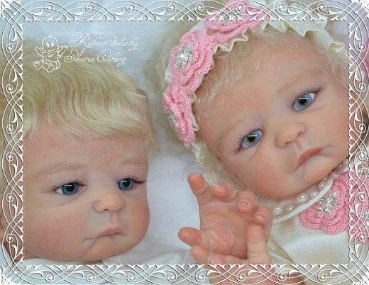 """Здравствуйте девочки-мастерицы! В моей мастерской """"родились"""" двойняшки- братик и сестричка Матвей и Миласлава.  Хочу вам их показать. Малыши ростом 56см, весом 3200гр. фото 1"""