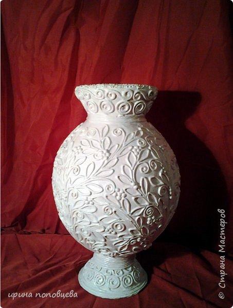 """Дорогие мои Мастера и мастерицы,здравствуйте! Сегодня я пришла к вам с мастер-классом по созданию вазы.За основу взята моя ваза  """"Лиза"""",принявшая участие в прекрасном конкурсе по технике пейп-арт Тани Сорокиной. фото 10"""