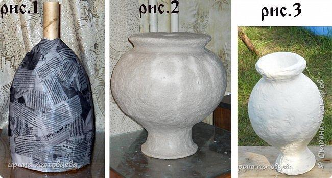 """Дорогие мои Мастера и мастерицы,здравствуйте! Сегодня я пришла к вам с мастер-классом по созданию вазы.За основу взята моя ваза  """"Лиза"""",принявшая участие в прекрасном конкурсе по технике пейп-арт Тани Сорокиной. фото 7"""