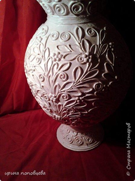 """Дорогие мои Мастера и мастерицы,здравствуйте! Сегодня я пришла к вам с мастер-классом по созданию вазы.За основу взята моя ваза  """"Лиза"""",принявшая участие в прекрасном конкурсе по технике пейп-арт Тани Сорокиной. фото 11"""